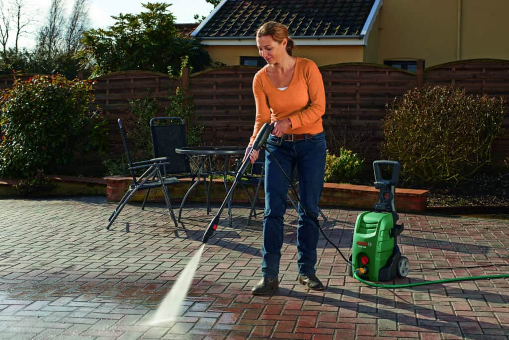 Lori happy with her new pressure washer.